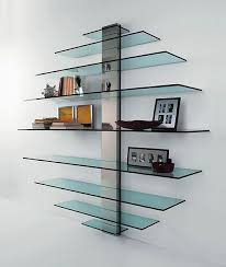 Glass shelves bookcase Cabinet New Trend Floating Glass Shelves Home Design And Decor Ideas Pinterest New Trend Floating Glass Shelves Home Design And Decor Ideas Den
