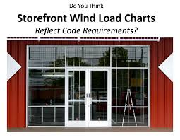 Wind Load Chart Manufacturer Storefront Wind Load Charts Still Need