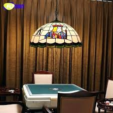 stained glass pool table light stained glass pool table light pendant light creative stained glass