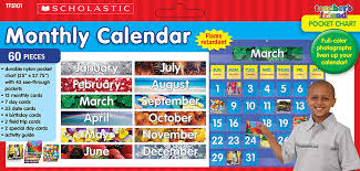 Monthly Calendar Pocket Chart Blue