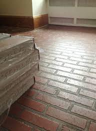 faux brick flooring