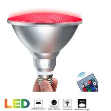 Rayway Par38 Led Rgb Spotlight Bulb Outdoor 20w Waterproof Dimmable Color Changing Led Lawn Lamp E26 Floodlight With Remote For Holiday Party