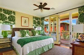 Bright Tropical Bedroom Designs