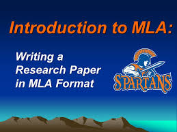 Formatting a Research Paper     The MLA Style Center
