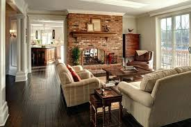 brick fireplace decor brown decorating ideas