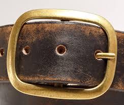 western embossed leather belt vintage aged distressed custom snap belt made in usa
