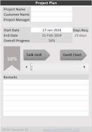 Excel Task Manager Template Free Project Plan Template Excel Free Download