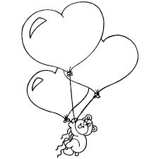 Disegno Di Cuori Palloncini Da Colorare Per Bambini