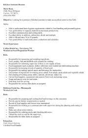 free resume helper sample kitchen helper resume