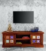 Buy Siramika <b>Solid</b> Wood <b>Sheesham Wood TV</b> Console in Honey ...