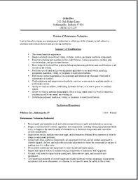 Electrician Job Description Maintenance Job Description Resume Maintenance Technician Job