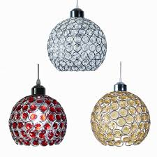 modern glass crystal ceiling pendant light shade jewel ball chandeliers shades