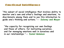 emotional intelligence ei  emotional
