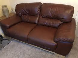 chestnut brown leather sofas for must go asap great condition delivery