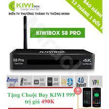 Giá 1,881,000đ SIÊU PHẨM Android Tivi Box KIWIBOX S8 PRO + Tặng Chuột Bay  KIWI999 trị giá 490K - Phân phối bởi Miracles Company ưu đãi