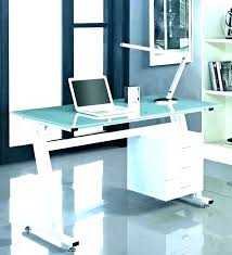 Office desk glass top Frosted Glass Office Desk With Glass Top Computer Desk With Glass Top Modern Computer Desk Glass Black Glass Doragoram Office Desk With Glass Top Computer Desk With Glass Top Modern