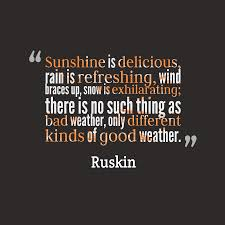 Ruskin Quote About Weather