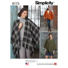 Poncho Sewing Pattern Cool Simplicity 48 Misses' No Sew Poncho