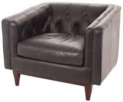 rv astley natty oxford black leather armchair