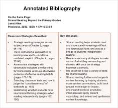 annotated bibliography generator examples in pdf  informative annotated bibliography example