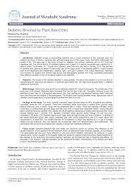 Pdf Diabetes Reversal By Plant Based Diet