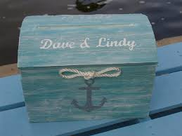 personalized tiffany blue nautical themed beach wedding card box Wedding Card Holder Chest personalized tiffany blue nautical themed beach wedding card box treasure chest with rope and hand treasure chest wedding card holder