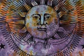 home décor indian sun moon tapestry