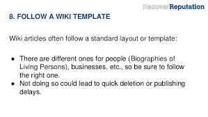 Wikipedia Layout Template 12 Tips For Publishing A Wikipedia Article To Boost Your Online Reput