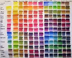Artist Color Mixing Chart Painting Ii 2009 Color Exercise