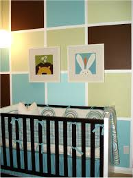 On The Wall Painting Color Block Painted Wall For Boys Nursery