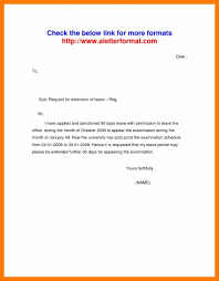 Letter Writing Leave Request Refrence Example Letter Vacation Leave