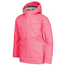 The North Face Youth Snow Quest Jacket Rocket Red Fast