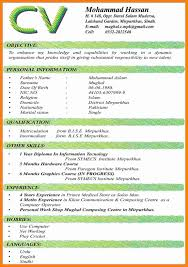 5+ Cv Latest Format | Theorynpractice