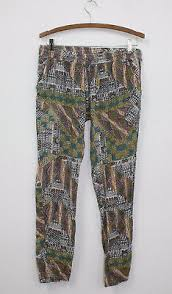 Apostrophe Clothing Size Chart Element Womens Multi Color Aztec Patterned Print Skinny