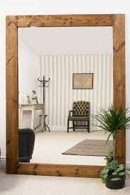 solid wood frame wall mounted mirror
