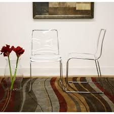 clear acrylic furniture. Baxton Studio Lino Clear Acrylic Dining Chairs (Set Of 2) Furniture ,