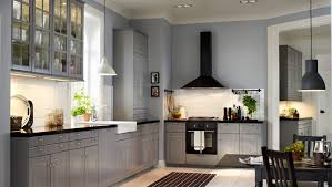appealing ikea varde: appealing white tile backsplash in traditional kitchen with grey colored ikea kitchen cabinets