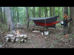 camping in the woods. Hammock Camping In The Woods Solo