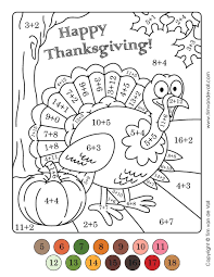 To add a little variety to our coloring pages, i created these printable color by number worksheets. Result For Color Number Thanksgiving Math Worksheets Coloring Pages With Numbers Charlie Brown Disney Free Printable Day Oguchionyewu