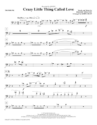crazy little thing called love sheet music crazy little thing called love trombone sheet music direct