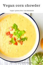 super creamy vegan corn chowder low