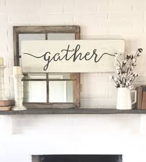 gather wood sign rustic wall decor wall decor gather klfpd 262365