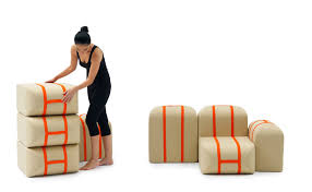 This Shape Shifting Couch Stacks Itself Like Suitcases