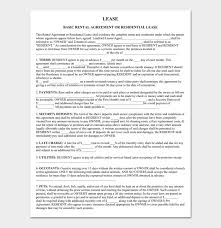 Basic Rental Agreement Template Rental Agreement Template 5 Fillable For Word Doc Pdf Format