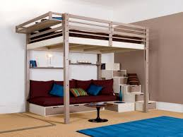Bunk Bed With Couch And Desk Bedroom Loft Bed For Teens With Desk And Small Futon Featuring
