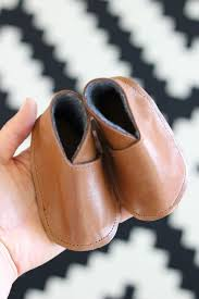 6 homemade leather baby booties