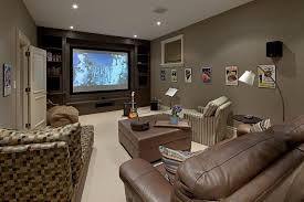 media room paint colors Home Theater Traditional with beige bean bags  brown. Image by: Peter A Sellar - Architectural Photographer