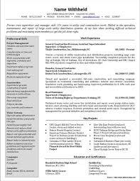 Electrical Foreman Resume Samples Resume Resume Examples