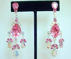 vintage style costume jewelry chandelier earrings crystal earrings