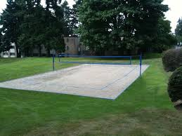 College Court ConstructionBackyard Beach Volleyball Court